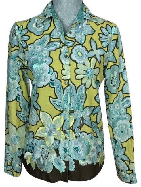Preload https://img-static.tradesy.com/item/21344523/max-mara-greenbluebrown-floral-embroidered-shirt-button-down-top-size-6-s-0-1-650-650.jpg
