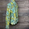 Max Mara Shirt Blouse Floral Embroidered Button Down Shirt Green/Blue/Brown Image 3