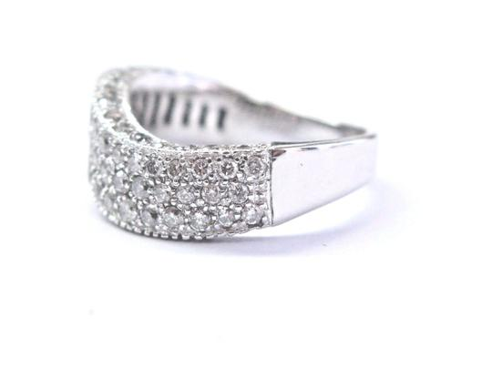 custom Fine Round Cut Diamond White Gold Pave 3-Row Wavy Ring 14Kt 2.00Ct Image 1
