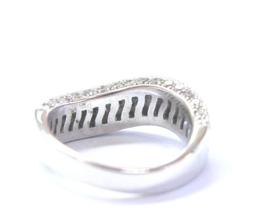 custom Fine Round Cut Diamond White Gold Pave 3-Row Wavy Ring 14Kt 2.00Ct Image 2