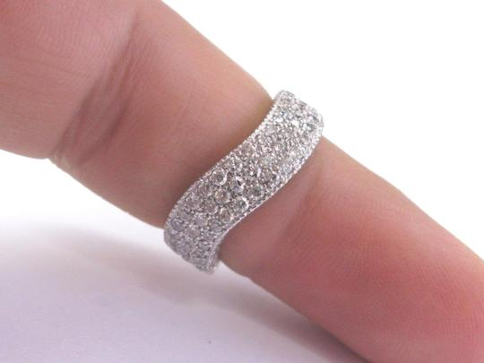 custom Fine Round Cut Diamond White Gold Pave 3-Row Wavy Ring 14Kt 2.00Ct Image 3