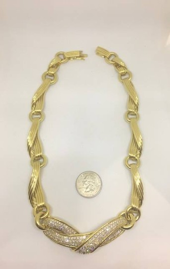 Jose Hess Jose Hess Diamond 18k Yellow Gold Ribbon Necklace Image 5