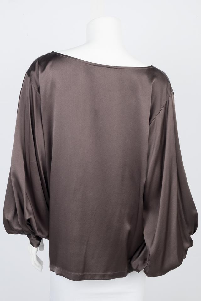 c97f90e9e18e61 Dries van Noten Olive Silk Long Sleeve Blouse Size 8 (M) - Tradesy