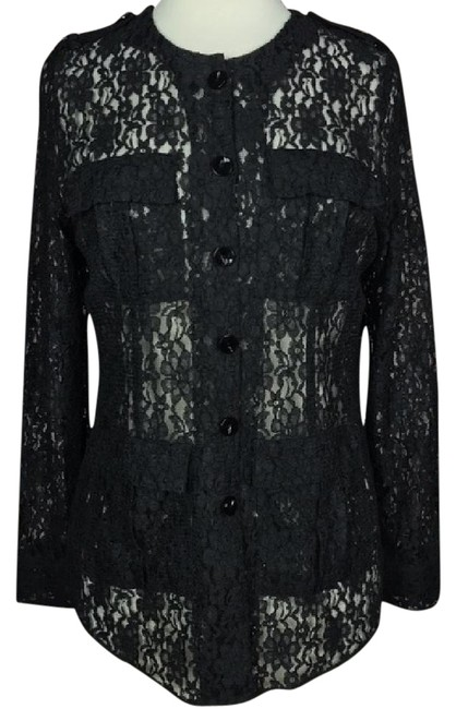Preload https://img-static.tradesy.com/item/21344683/misook-black-lace-long-sleeve-blouse-button-down-top-size-6-s-0-1-650-650.jpg