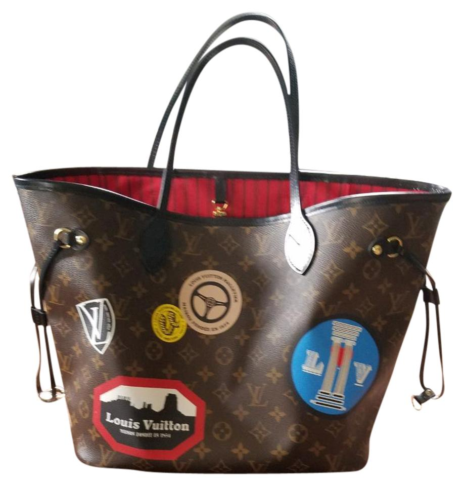 89ec1a20782b Louis Vuitton Neverfull Mm World Tour Monogram Canvas with Black Leather  Trim Tote