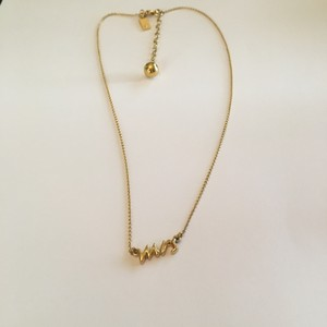 """Kate Spade Gold """"Say Yes - Mrs"""" Necklace"""