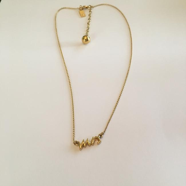 """Item - Gold """"Say Yes - Mrs"""" Necklace"""