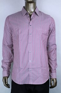 Gucci Pink/Light Purple Men's Skinny Stripe Pink/Light 42/16.5 387981 5012 Shirt