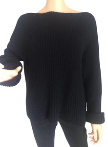 Vince Cashmere Boat Neck Ribbed Sweater