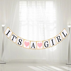Michaels Pink It's A Girl Banner Sign Other