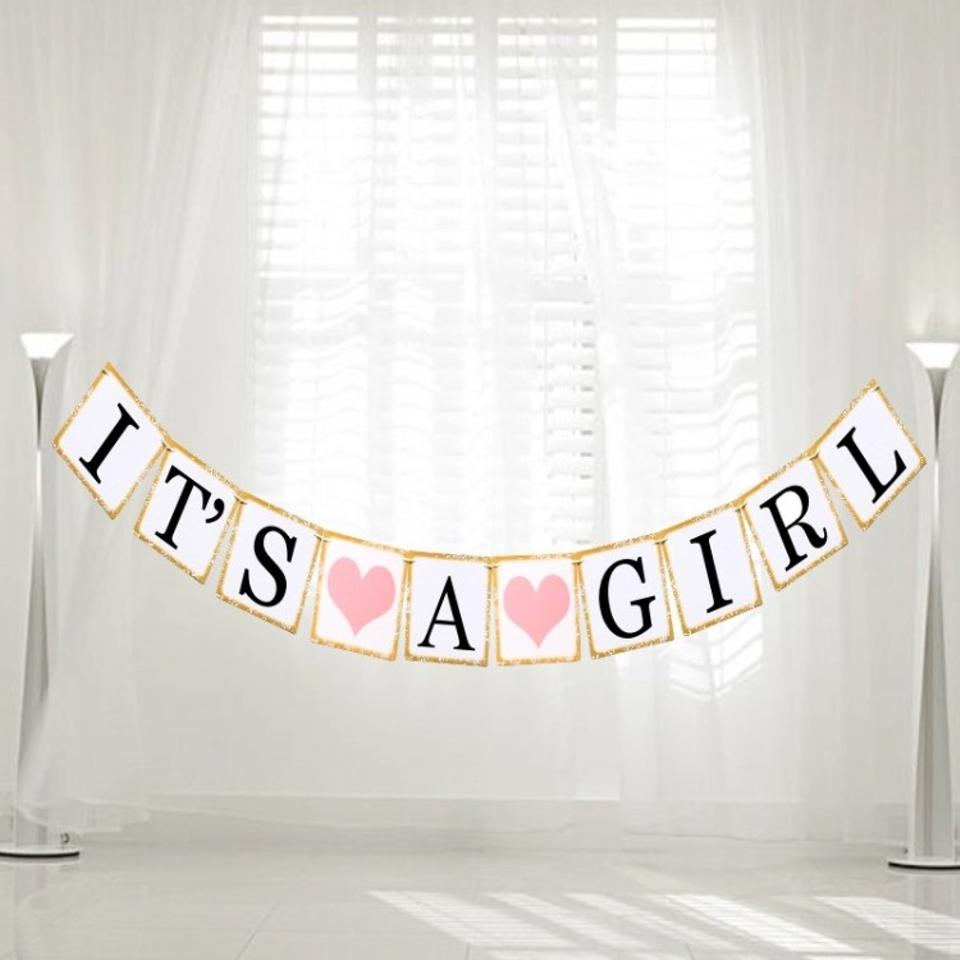 michaels pink it s a girl banner sign other tradesy