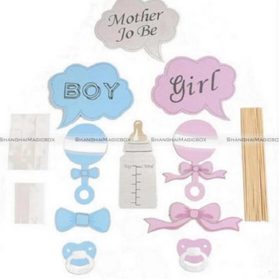 Michaels Blue Pink Gender Reveal Photo Booth Props Tradesy