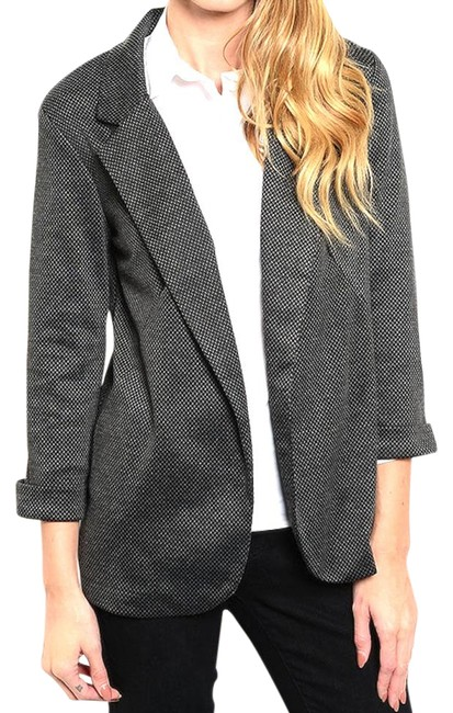 Preload https://img-static.tradesy.com/item/21345007/gray-open-front-speckled-business-jacket-blazer-size-8-m-0-1-650-650.jpg