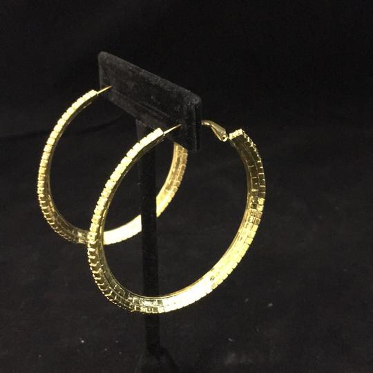 Knowles And Co Gold Plated Jewel Hoop Earrings Image 2