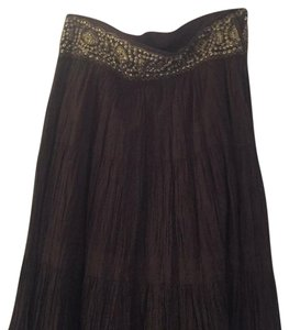 BCBGMAXAZRIA Maxi Skirt Brown