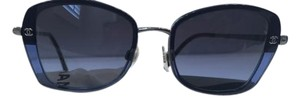 Chanel Blue Square Eye Sunglasses