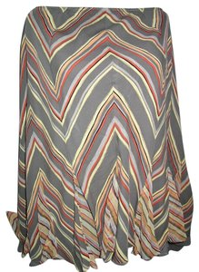 Alfani Bias Cut Womens Skirt Multi Colored