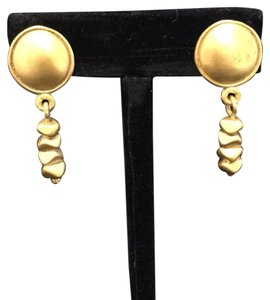 Knowles And Co Gold Plated Statement Earrings
