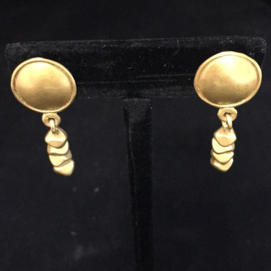 Knowles And Co Gold Plated Statement Earrings Image 2