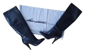 Brian Atwood Patent Leather Black Boots