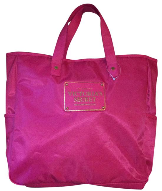 Victoria's Secret Satin Tote Pink Diaper Bag Victoria's Secret Satin Tote Pink Diaper Bag Image 1