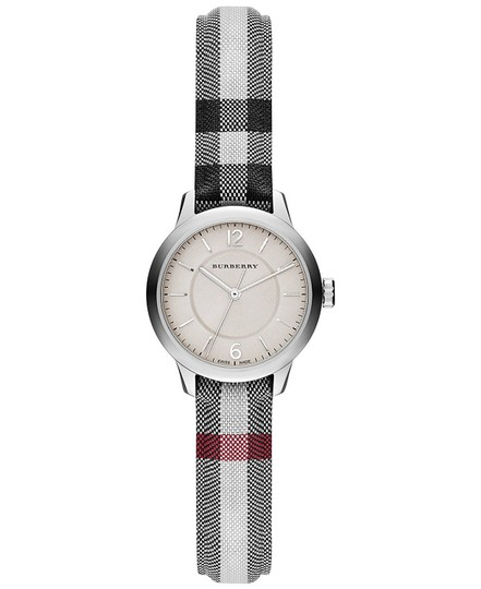 Burberry Swiss Stone Check Fabric Strap Watch 26mm BU10200 Image 2