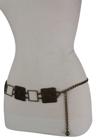 Preload https://img-static.tradesy.com/item/21345313/silver-women-hip-waist-vintage-antique-gold-metal-charm-brown-beads-belt-0-1-540-540.jpg