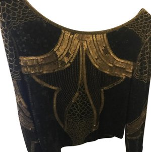 Gryphon Top Top black and gold