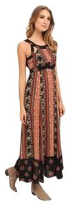 Printed Coal Combo Maxi Dress by Free People Maxi Boho