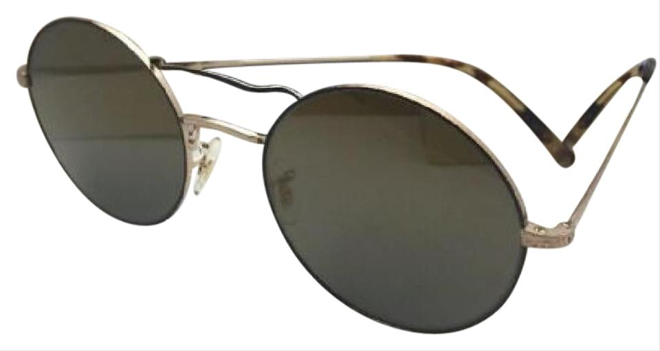 f7871560ab7 Oliver Peoples OLIVER PEOPLES Sunglasses NICKOL OV 1214-S 5271Y5 Black    Gold +Mirror ...
