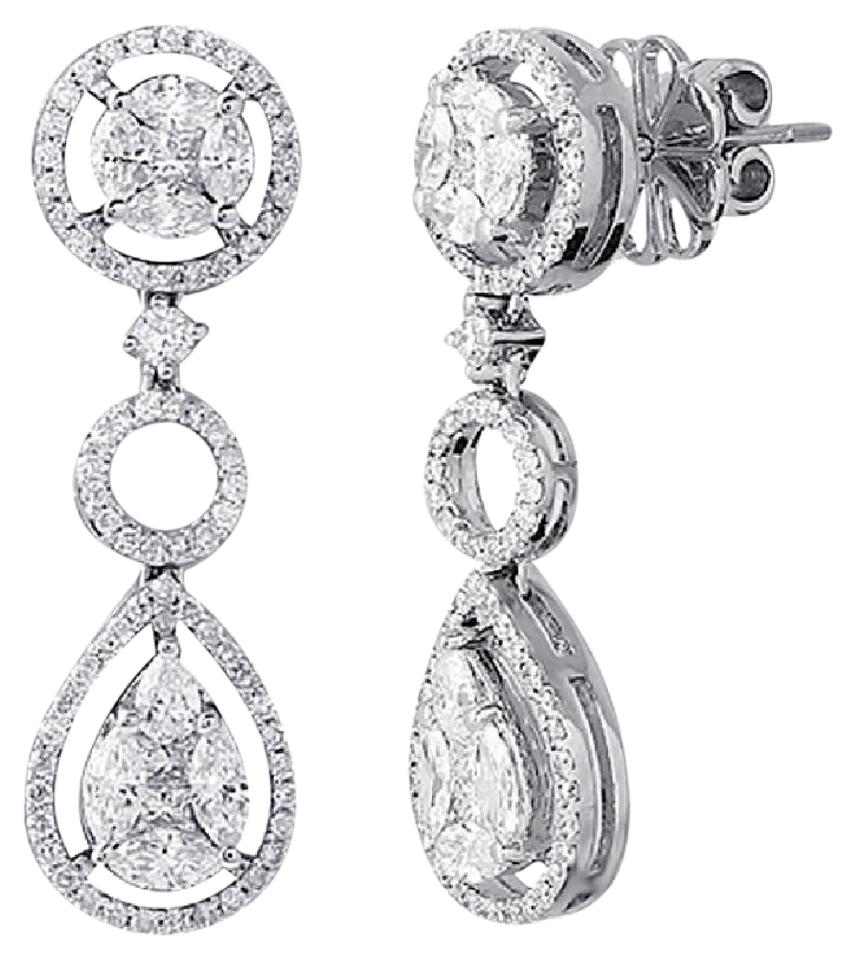 f platinum back rhapsody invisible carat igi earrings set diamond screw vs with certified stud