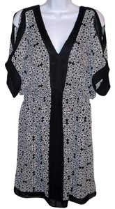 Boutique Europa short dress Black and White L Open Summer on Tradesy