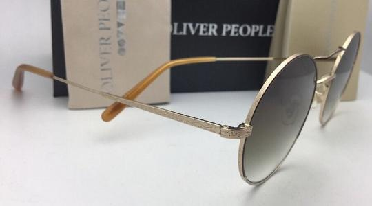 Oliver Peoples New OLIVER PEOPLES Sunglasses NICKOL OV 1214-S 52718E Rust & Gold Image 1