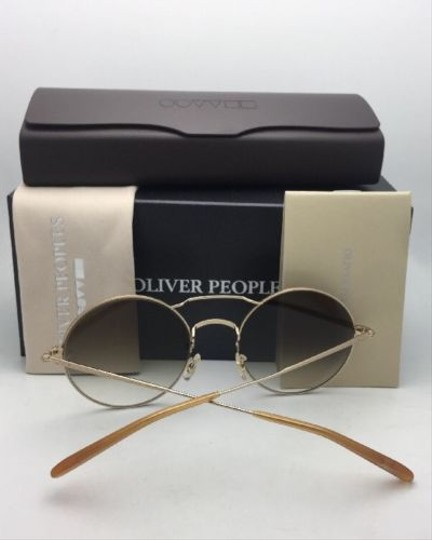 Oliver Peoples New OLIVER PEOPLES Sunglasses NICKOL OV 1214-S 52718E Rust & Gold Image 2