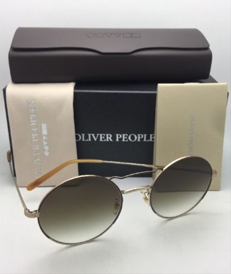 Oliver Peoples New OLIVER PEOPLES Sunglasses NICKOL OV 1214-S 52718E Rust & Gold Image 3
