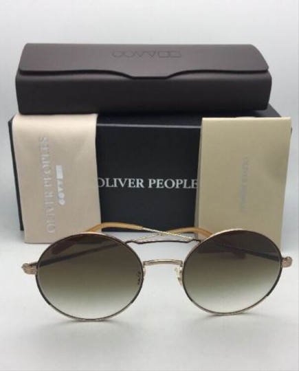Oliver Peoples New OLIVER PEOPLES Sunglasses NICKOL OV 1214-S 52718E Rust & Gold Image 4