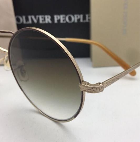 Oliver Peoples New OLIVER PEOPLES Sunglasses NICKOL OV 1214-S 52718E Rust & Gold Image 5