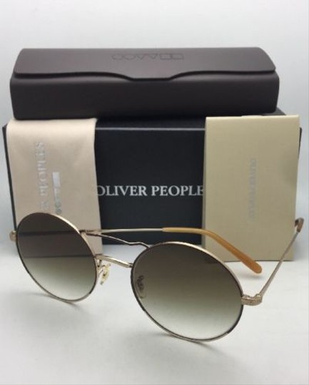 Oliver Peoples New OLIVER PEOPLES Sunglasses NICKOL OV 1214-S 52718E Rust & Gold Image 6