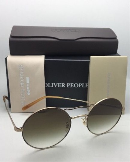 Oliver Peoples New OLIVER PEOPLES Sunglasses NICKOL OV 1214-S 52718E Rust & Gold Image 7