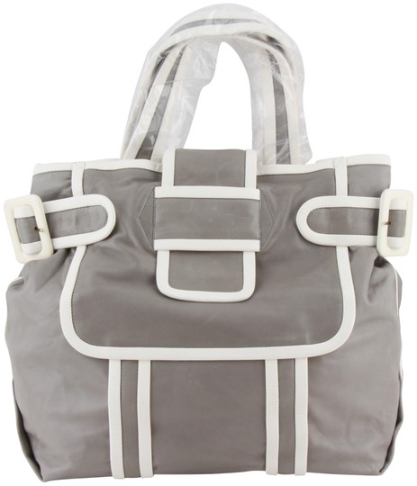 Preload https://img-static.tradesy.com/item/21345474/pierre-hardy-and-grey-leather-tote-0-3-540-540.jpg