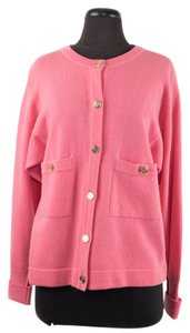 Chanel Cashmere Gold Buttons Cardigan