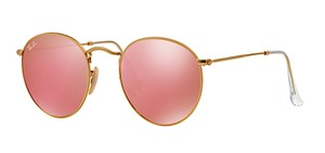 Ray-Ban ROUNDED PINK MRROR SUNGLASSES - RB 3447 112/Z2 - FREE 3 DAY SHIPPING