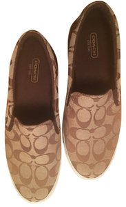 Coach Classic Comfortable Tan and Brown Athletic