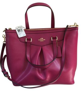 Coach Maroon Magenta Large Tote in Cranberry