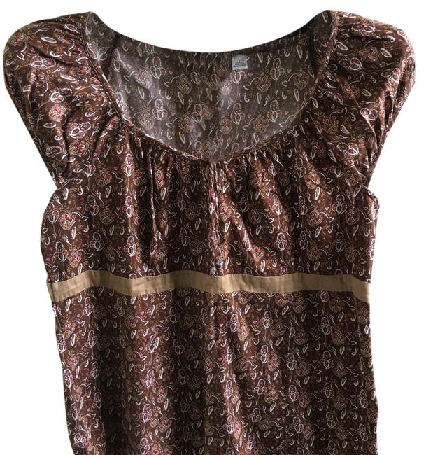 Preload https://img-static.tradesy.com/item/21345770/cato-brown-round-neck-short-sleeves-blouse-size-14-l-0-1-650-650.jpg