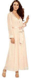 Peachy Blush Pink Maxi Dress by Flora Nikrooz Long Chiffon Robe