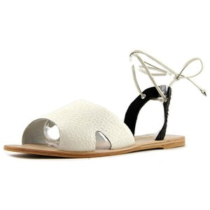 Matisse Festival Leather Eclectic Boho Blk White Sandals