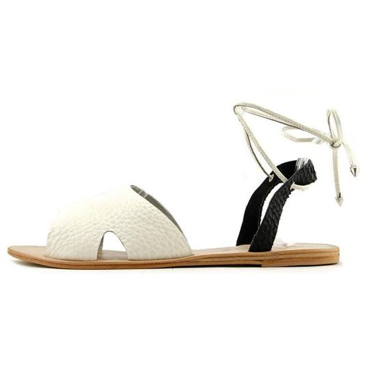 Matisse Festival Leather Eclectic Boho Blk White Sandals Image 2