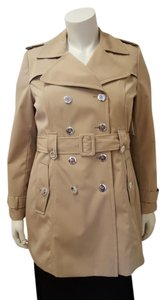 Calvin Klein Water-resistant Silver Hardware Midlength Trench Coat