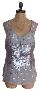 Matty M Sequin Evening Night Out Top GRAY